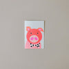 Pig Balloon Note Card