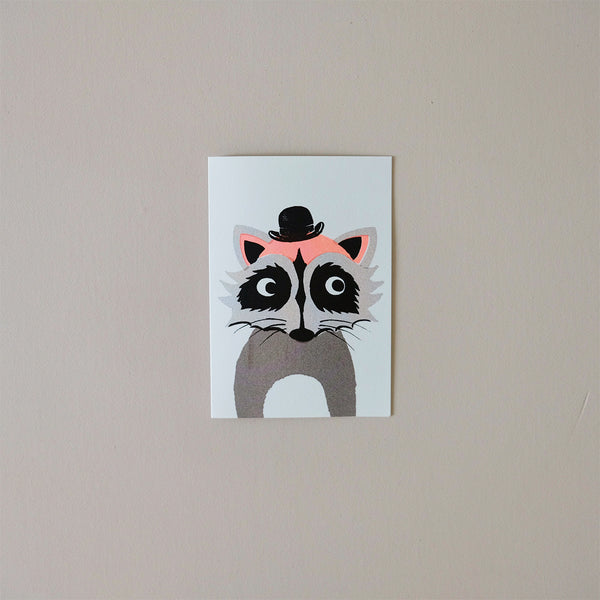 Raccoon Balloon Note Card