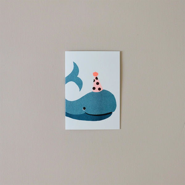 Whale Balloon Note Card