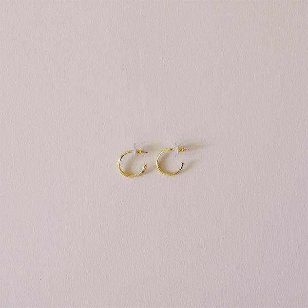 Reality of Travel Hoop Earrings Small