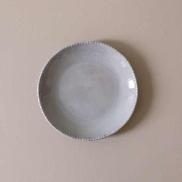 Beaded Dinner Plate Taupe
