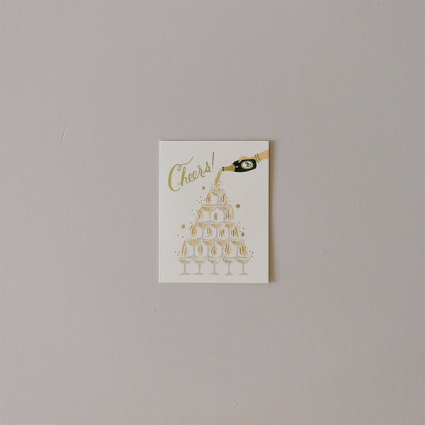 Champagne Tower Note Card