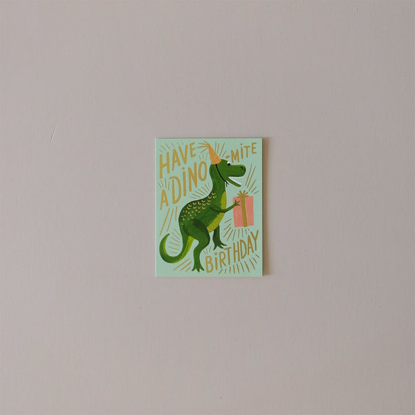 Dino-Mite Birthday Note Card