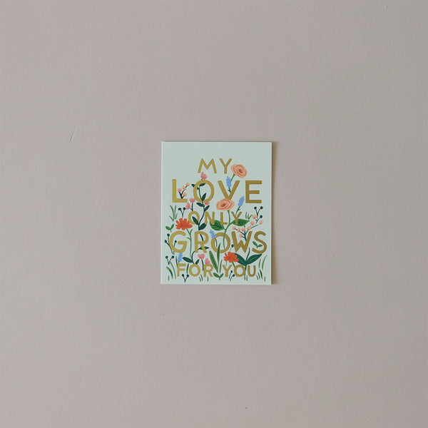 Love Grows Note Card