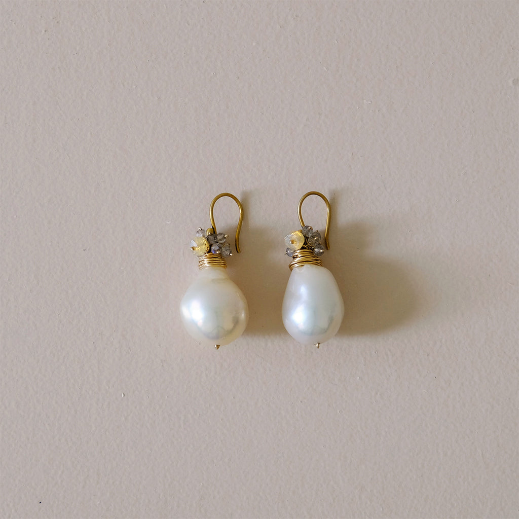 Baroque Pearl Earrings Large