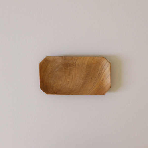 Teak Root Bevelled Tray Small