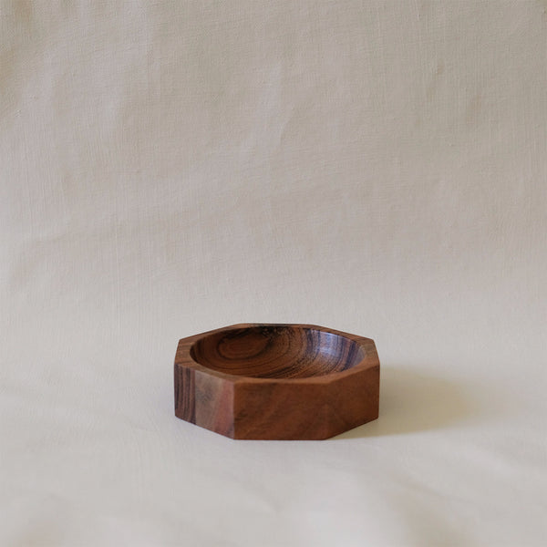 Acadia Wood Octagonal Modernist Bowl Small