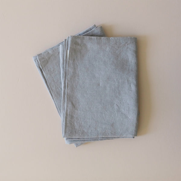 Linen Standard Pillowcase Light Grey