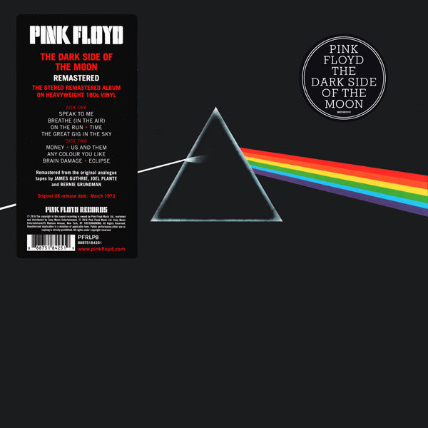 Pink Floyd | The Dark Side of the Moon | Remastered from Original Master Tapes [180g Vinyl]