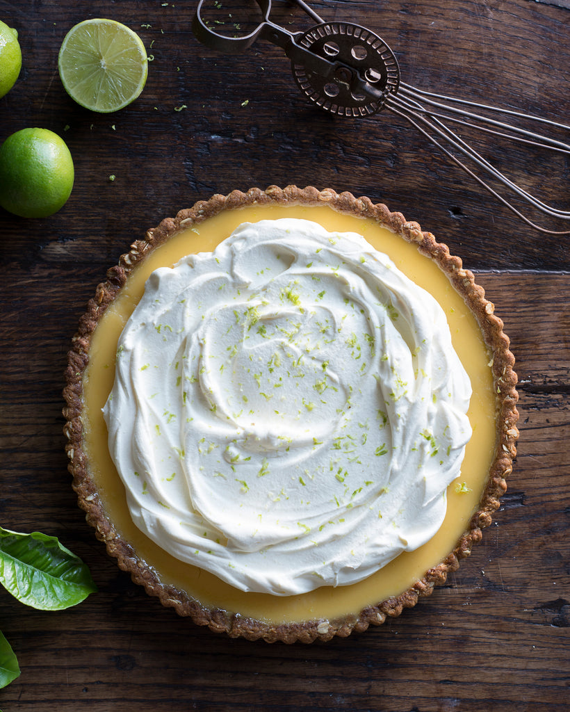 Lime Tart with Anzac Crust