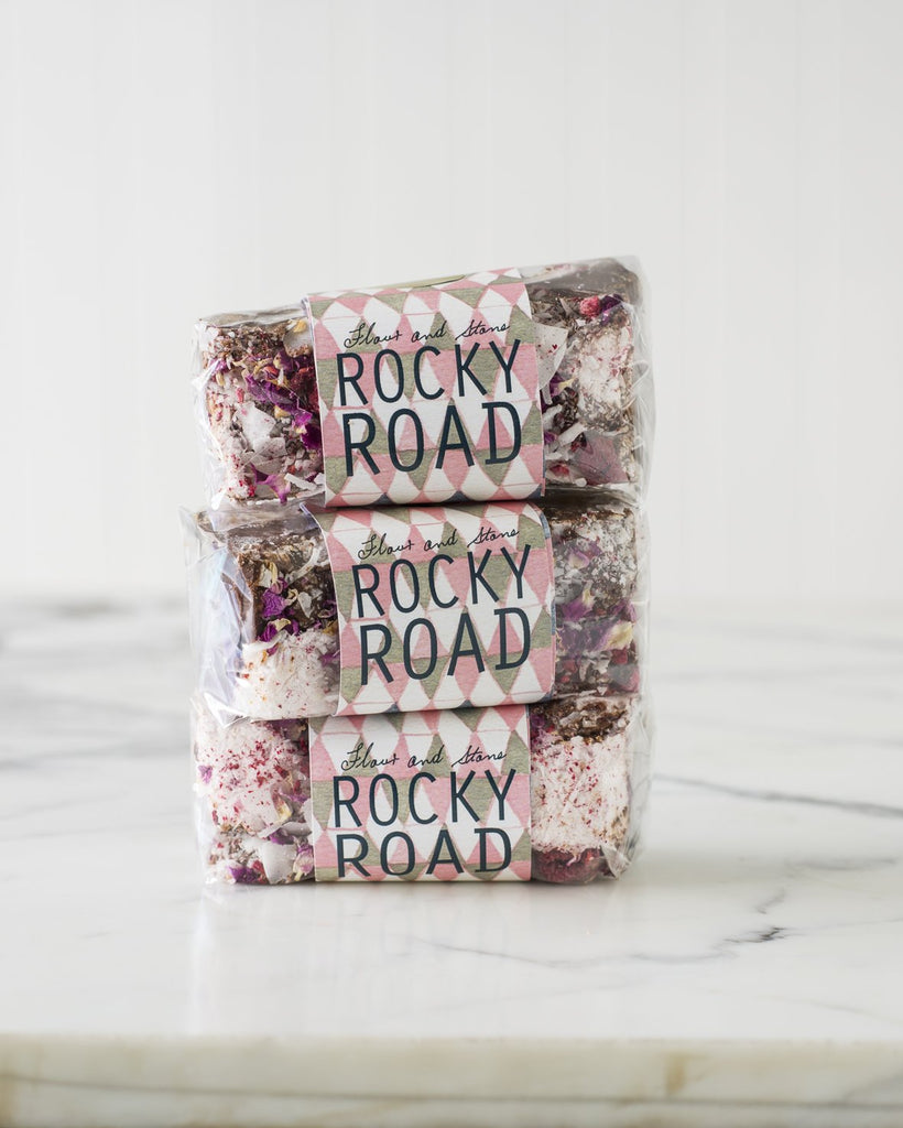Raspberry and Rose Rocky Road