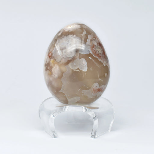 Flower Agate Egg AGAFEG004 - Madagascar Import SEAM Inc.
