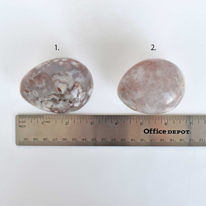 Flower Agate Egg AGAFEG008 - Madagascar Import SEAM Inc.