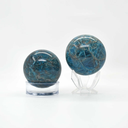 Blue Apatite Sphere APBLSP008 - Madagascar Import SEAM Inc.