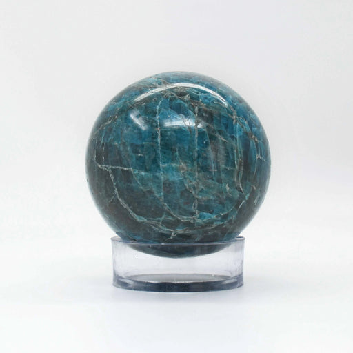 Blue Apatite Sphere APBLSP012 - Madagascar Import SEAM Inc.