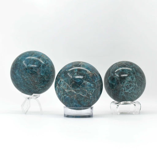 Blue Apatite Sphere APBLSP020 - Madagascar Import SEAM Inc.