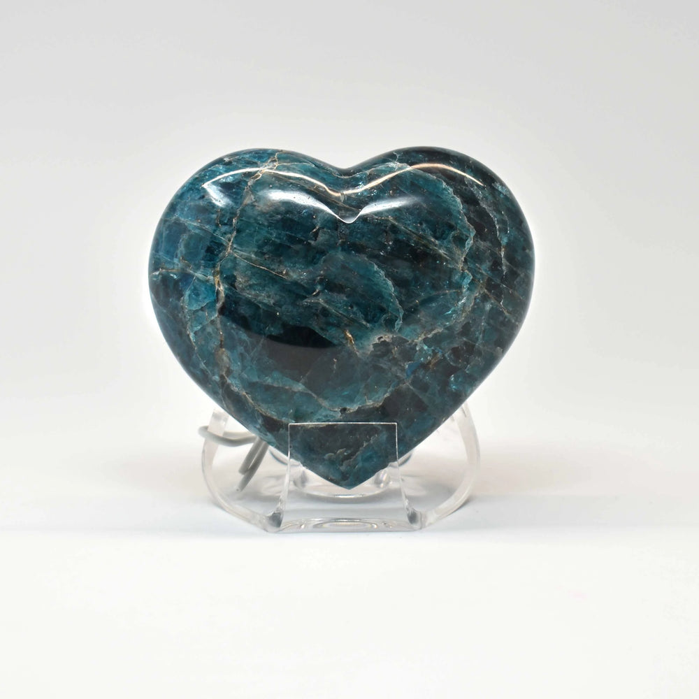 Blue Apatite Heart APBLHR008 - Madagascar Import SEAM Inc.