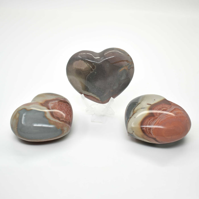Polychrome Jasper Heart JASPHR010 - Madagascar Import SEAM Inc.