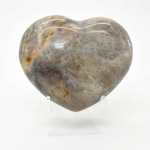 Black Moonstone Heart MOBLHR008