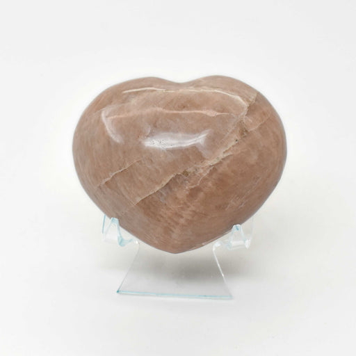 Peach Moonstone Heart MOPEHR007