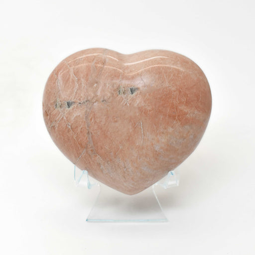 Peach Moonstone Heart MOPEHR008-1
