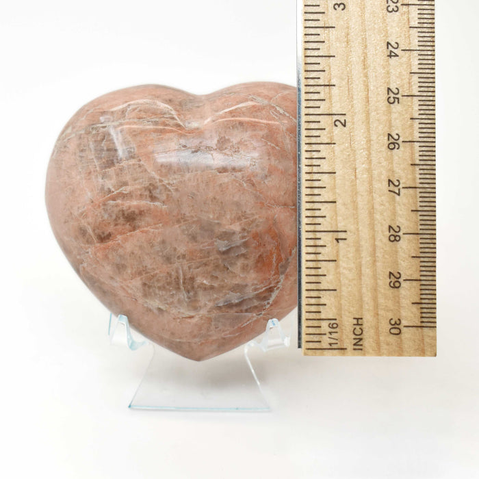 Peach Moonstone Heart MOPEHR008