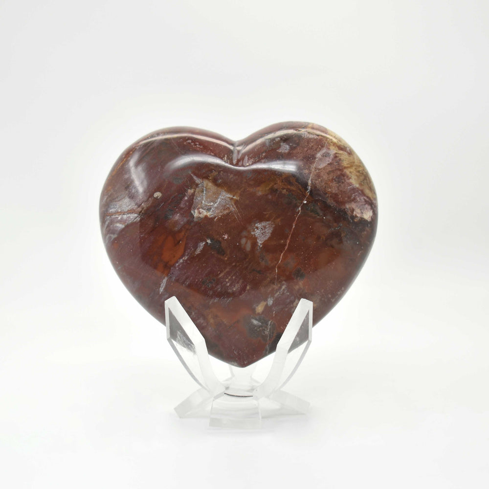 Petrified Wood Heart PWODHR015