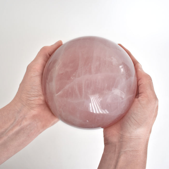 Rose Quartz Sphere QUROSP092 - Madagascar Import SEAM Inc.