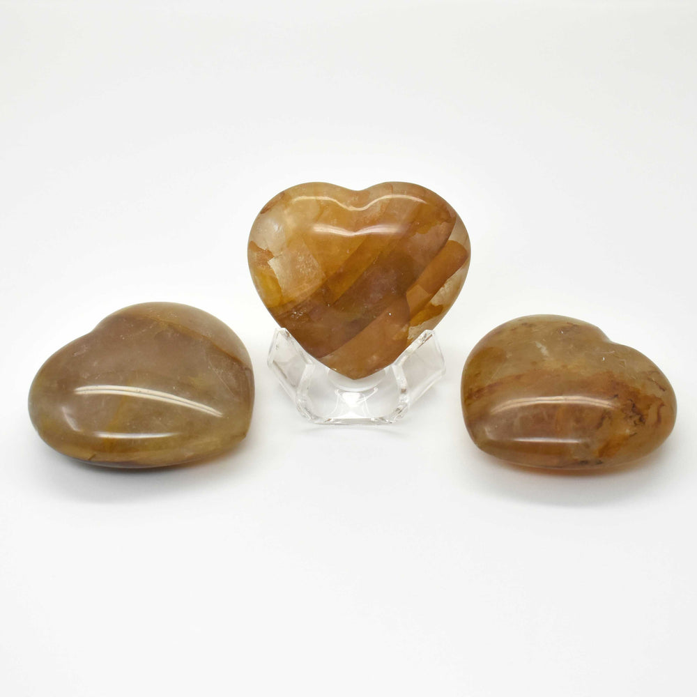 Yellow Quartz Heart QUYLHR008