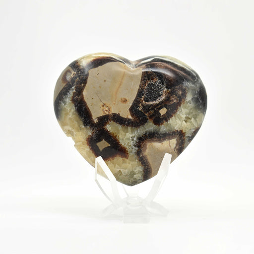 Yellow Septarian Heart SEYLHR012 - Madagascar Import SEAM Inc.