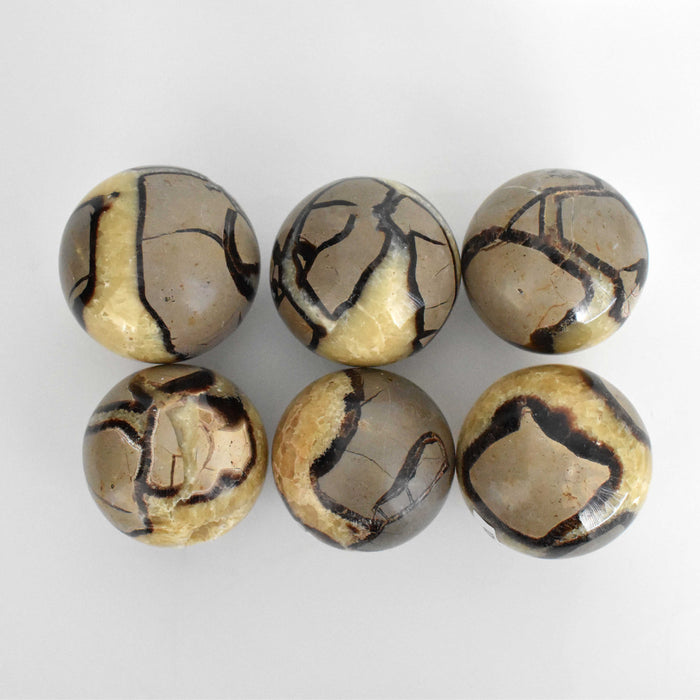 Yellow Septarian Sphere SEYLSP020 - Madagascar Import SEAM Inc.