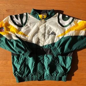 Rare Green Bay Packers Vintage Apex One NFL Authentic Pro Line Jacket Men's M