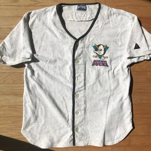 Mighty Ducks NHL Rare Vintage Softwear Athletics Canada Baseball Jersey