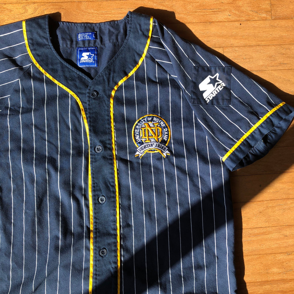 Notre Dame Fighting Irish Vintage Starter Pinstripe Jersey