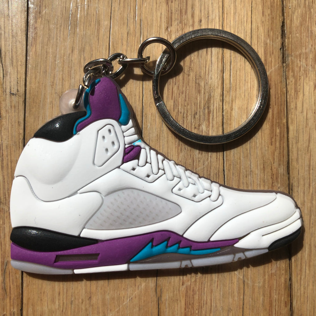 Jordan 5 V Grape Keychain