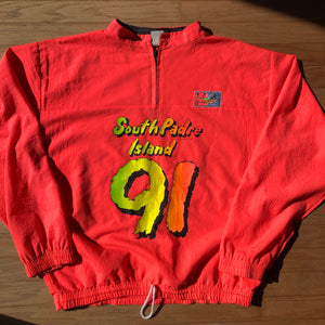 South Padre Island Vintage 1991 Speed Limit 88 Surf Pullover Windbreaker
