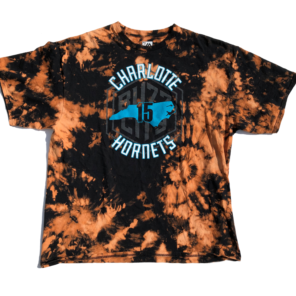 Charlotte Hornets Kemba Walker Acid Wash Shirt