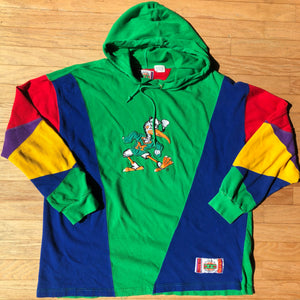 Miami Hurricanes Rare Vintage In the Paint Colorblocked Hoodie