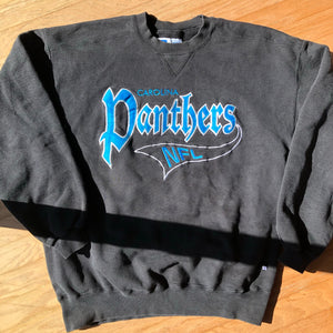 Carolina Panthers Vintage Russell Athletic Stitched Crewneck Sweatshirt