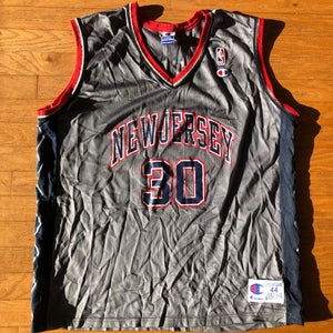 New Jersey Nets Distressed Vintage Kerry Kittles Jersey
