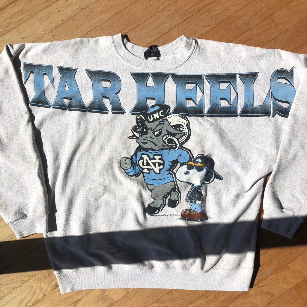 North Carolina Tar Heels Vintage Snoopy Spellout Sweatshirt