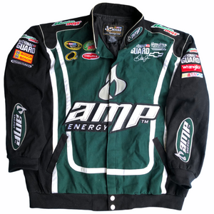 Vintage Nascar Chase Authentics Dale Earnhardt Jr Racing Jacket. Green Men's Size XL