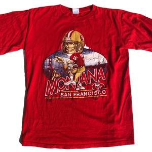 Vintage San Francisco 49ers Joe Montana Caricature Shirt