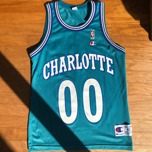 Charlotte Hornets Rare Vintage Champion Tony Delk Jersey