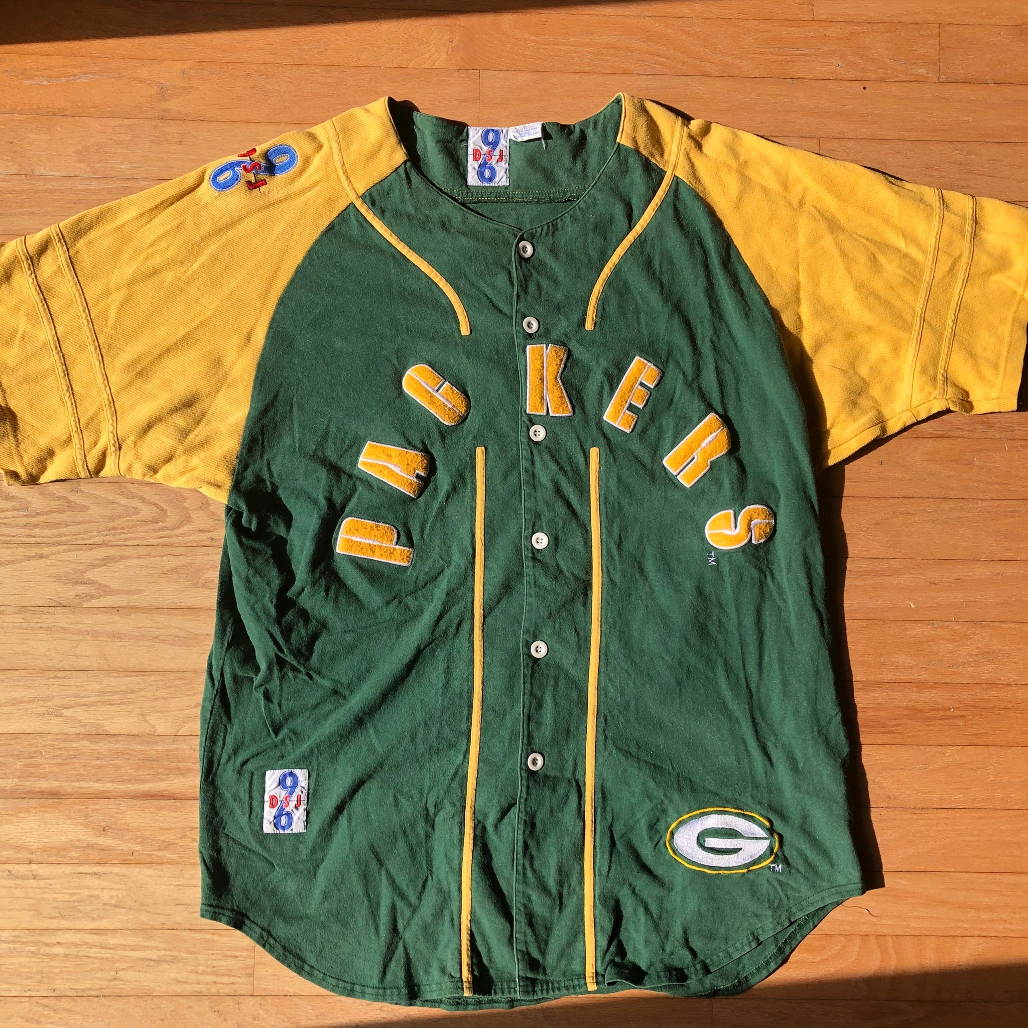 Rare Vintage Green Bay Packers Baseball Jersey