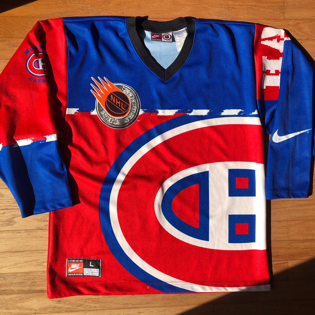 Montreal Canadiens Vintage Big Logo All Over Print Hockey Jersey