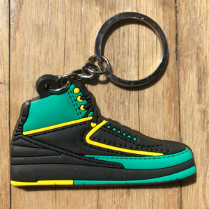 "Jordan 2 II Retro High DB ""Doernbecher"" Keychain"