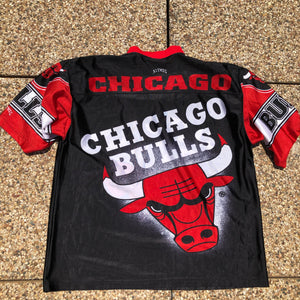 Chicago Bulls 90s Nutmeg Mills Big Logo All Over Print Jersey
