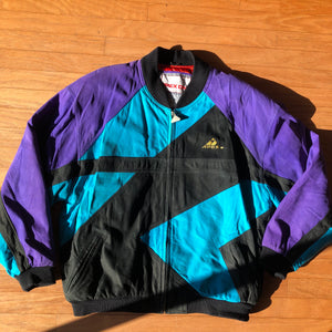 Apex One Vintage Charlotte Hornets Colorway Suede Leather Jacket