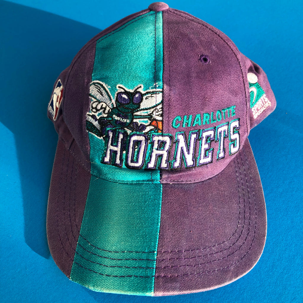 Purple Vintage Charlotte Hornets Snapback Hat by Sports Specialties